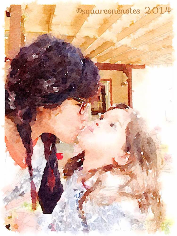 watercolor kiss the ride